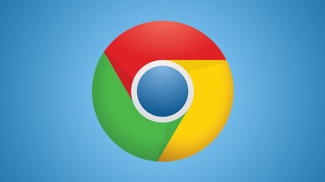 Google Chrome logo with blue background