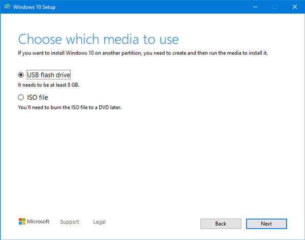 download Windows 10 ISO using Media Creation Tool